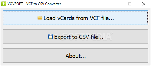 Download VCF to CSV Converter 2 0