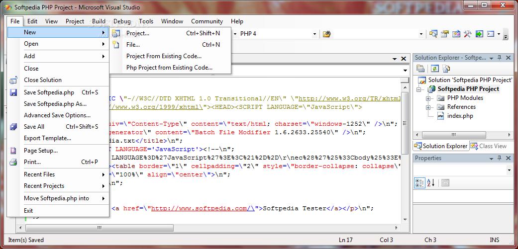 Download VS Php for Visual Studio 2005 3 0 2 7428