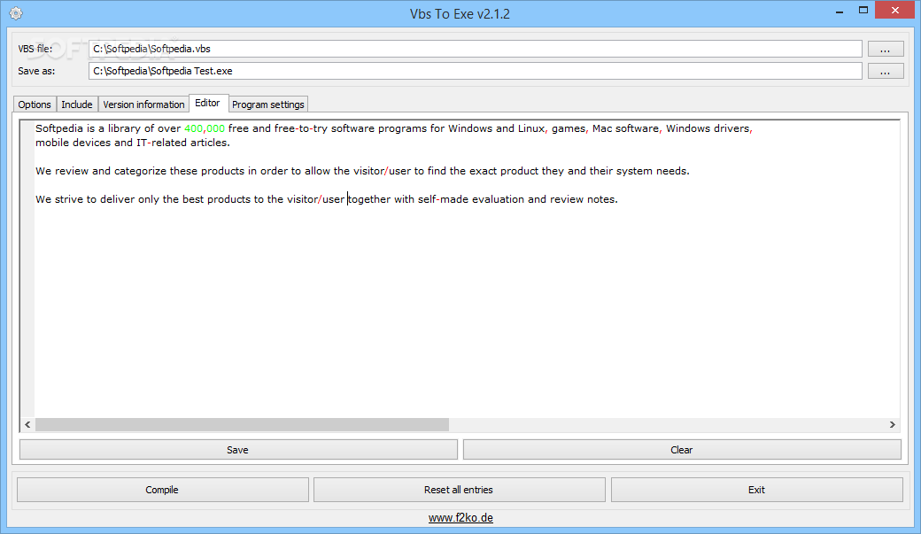 vbs to exe freeware