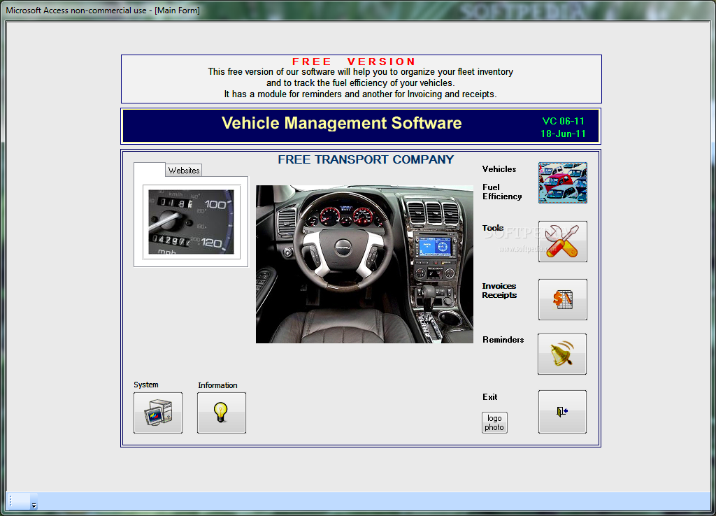 Download Vehicle Management Free Edition 06-11