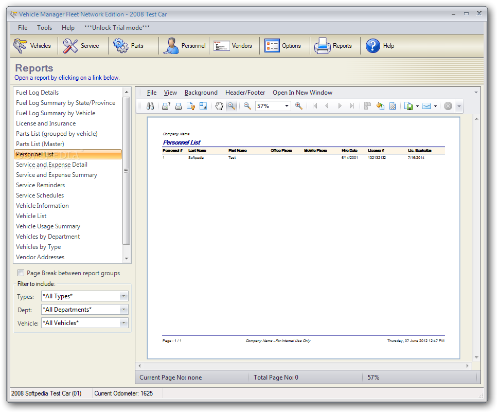 Vehicle manager fleet network edition 2.0.1105.0