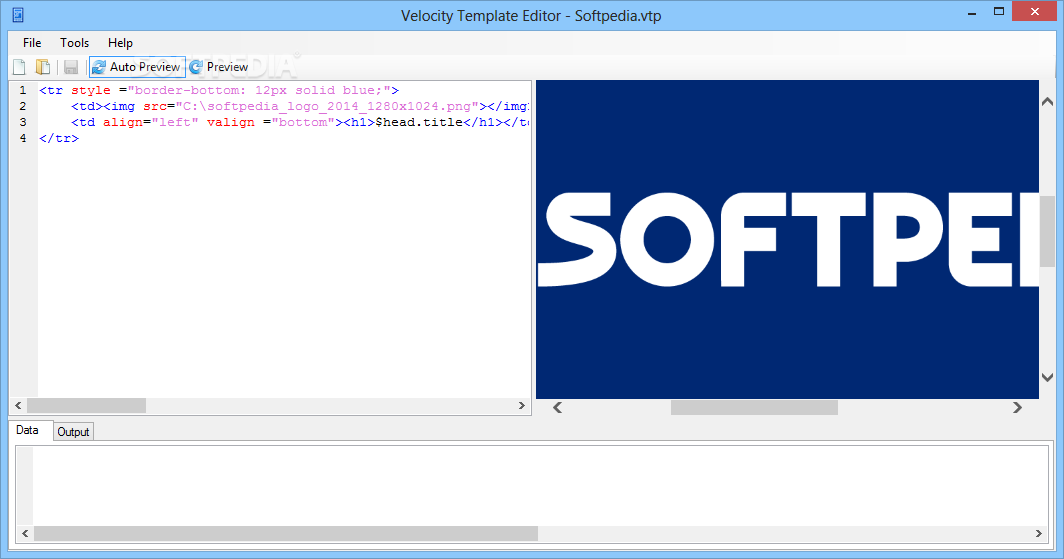 Velocity Template Editor - Velocity Template Editor is a simple to use ...