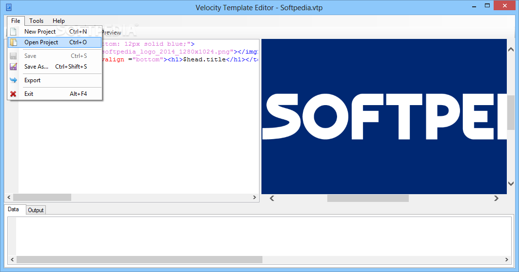 Velocity Template Editor - The application allows you to save the ...