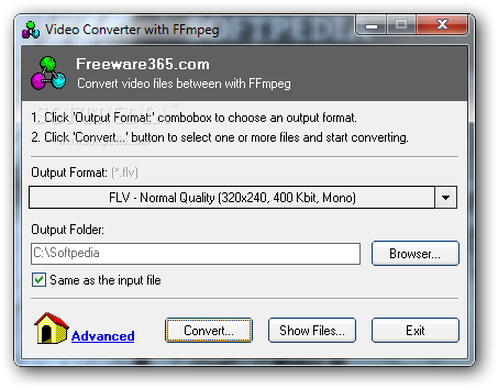 Download Video Converter with FFmpeg 1 1 Build 20130125