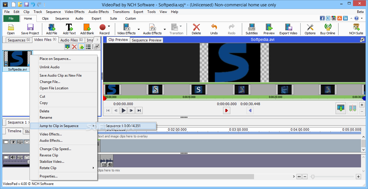 VideoPad Video Editor Pro 8.45 Code 2019 Download