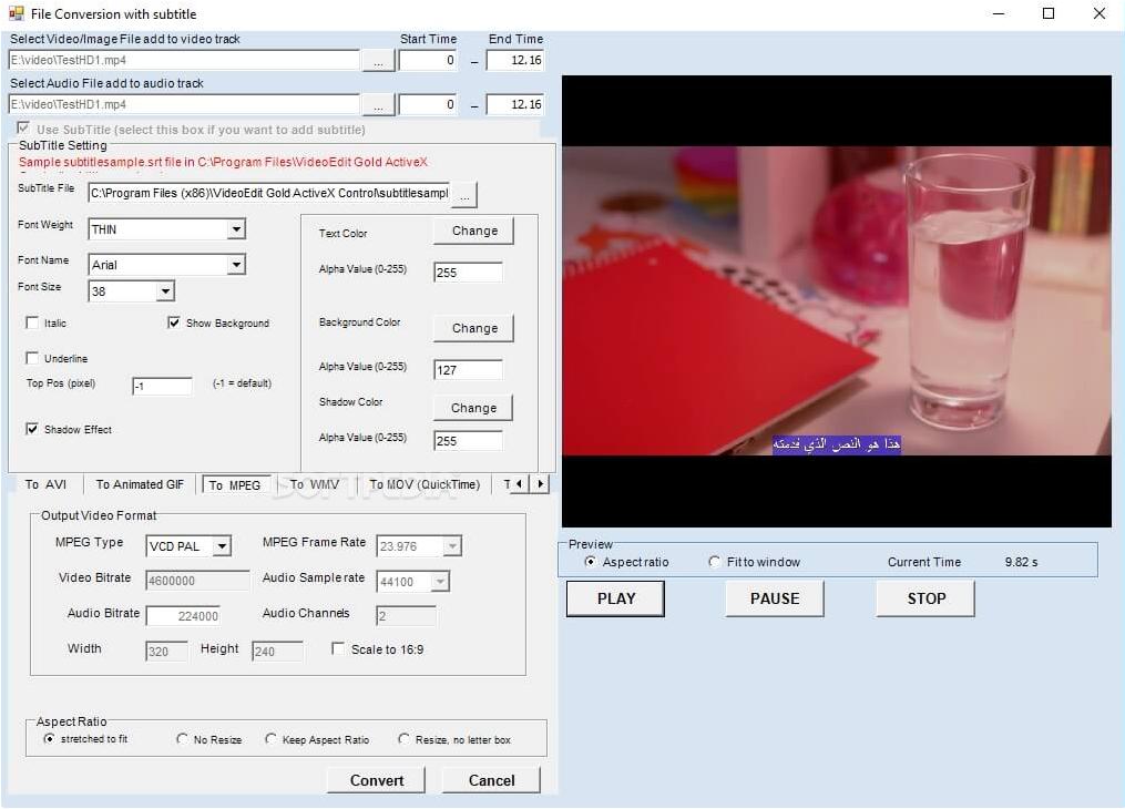 Download VideoEdit Gold ActiveX Control 17 0