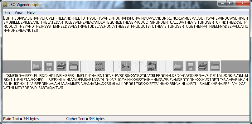 Vigenere Cipher - This is how the text will be displayed after the encrypti
