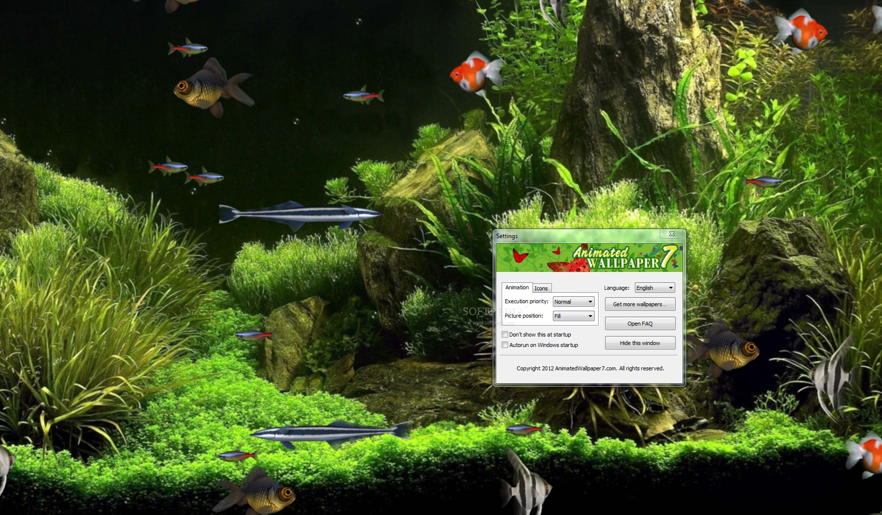 Virtual Aquarium Animated Wallpaper Screenshots, screen capture