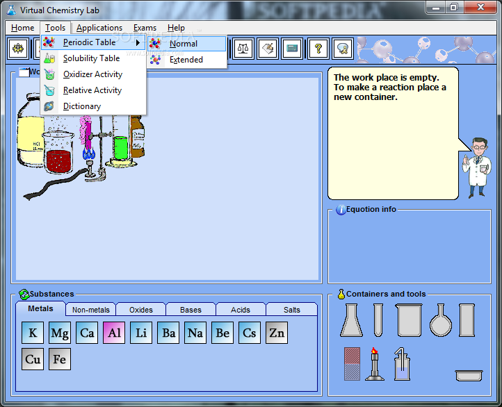 Virtual chemistry lab download periodic table elements interactive virtual chemistry lab download urtaz Image collections