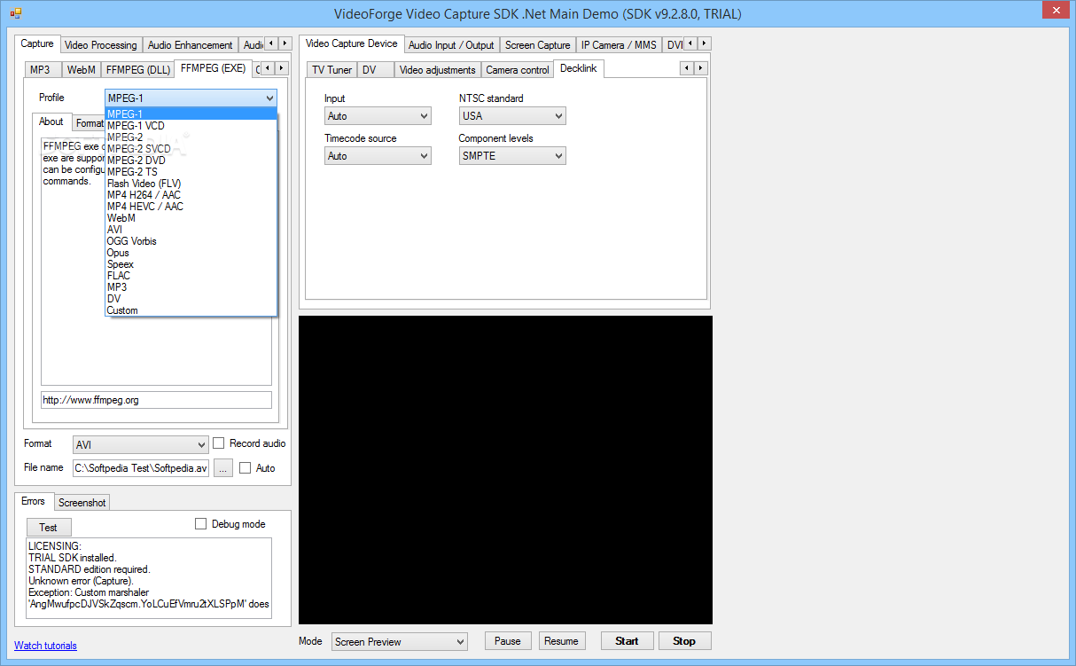 Download VisioForge Video Capture SDK  Net Edition 10 3