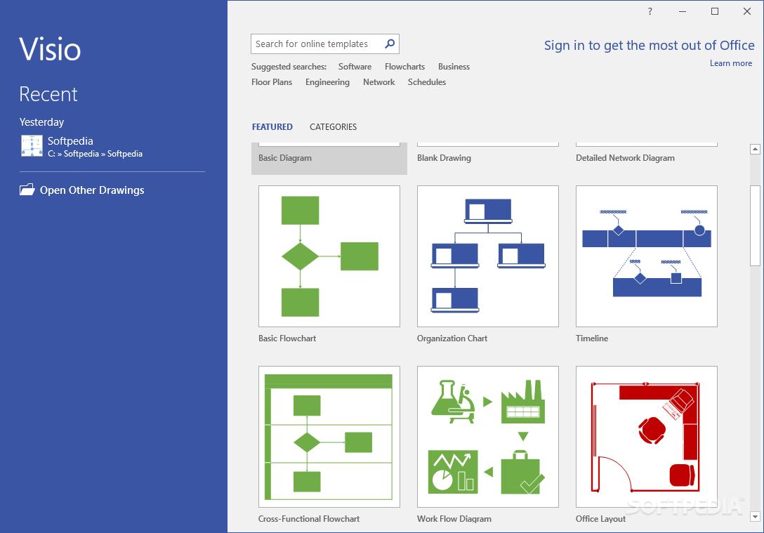 Microsoft visio standard 2016 – download / free trial / mac.
