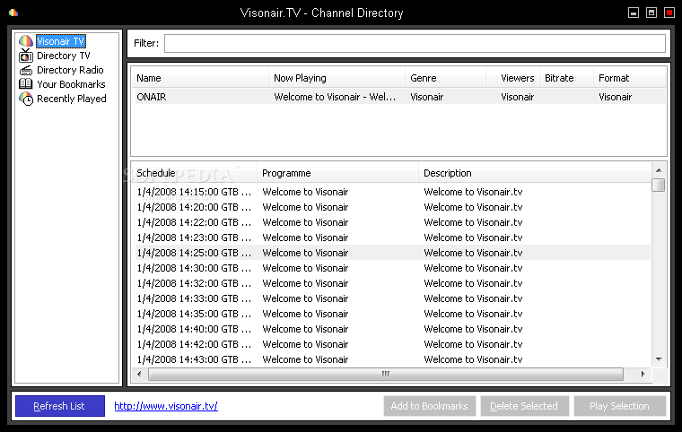 vcloud tv how to choose channels