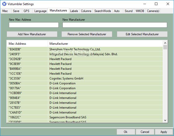 Download Vistumbler Portable 10 6 5