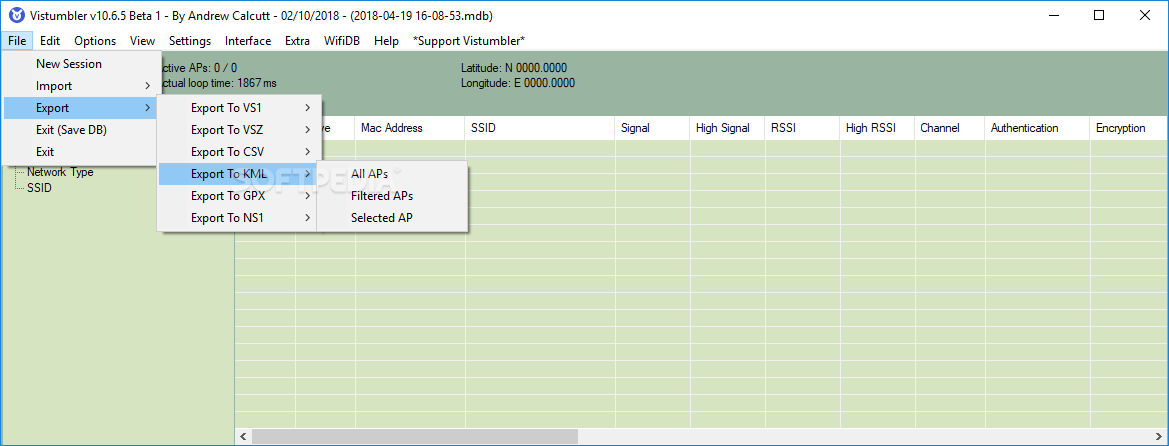Download Vistumbler 10 6 5
