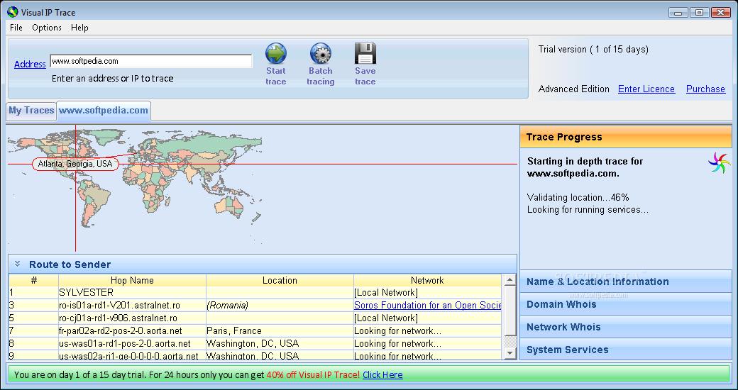 Download Visual Ip Trace 5 0e Build 3221