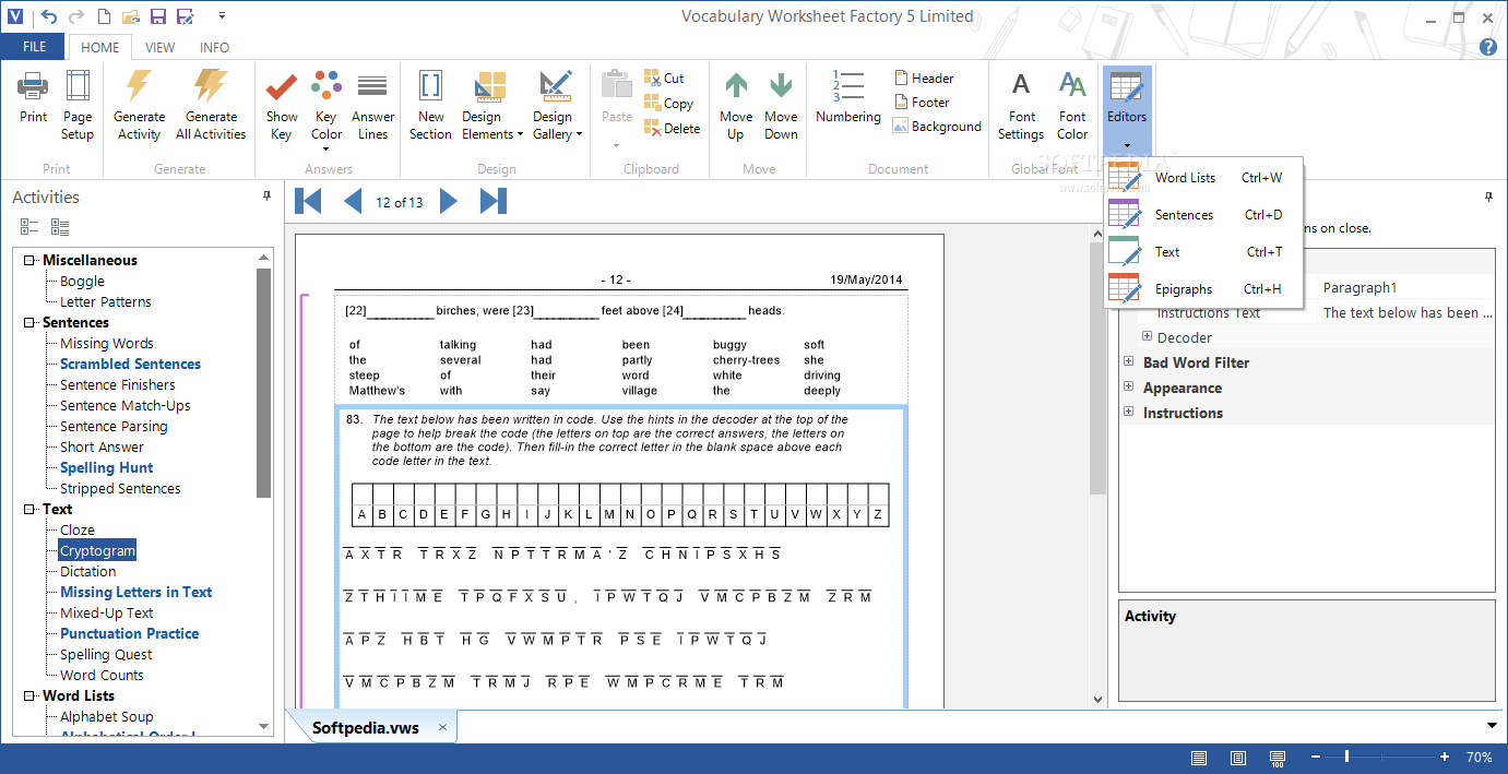 Download Vocabulary Worksheet Factory 6.0.3.7