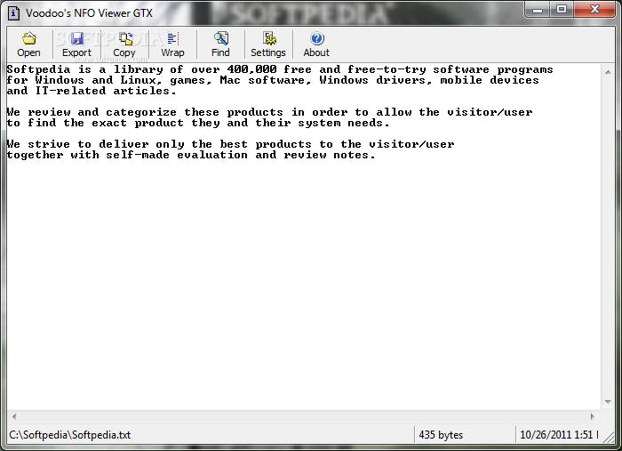 Download Voodoo's NFO Viewer GTX 1 03