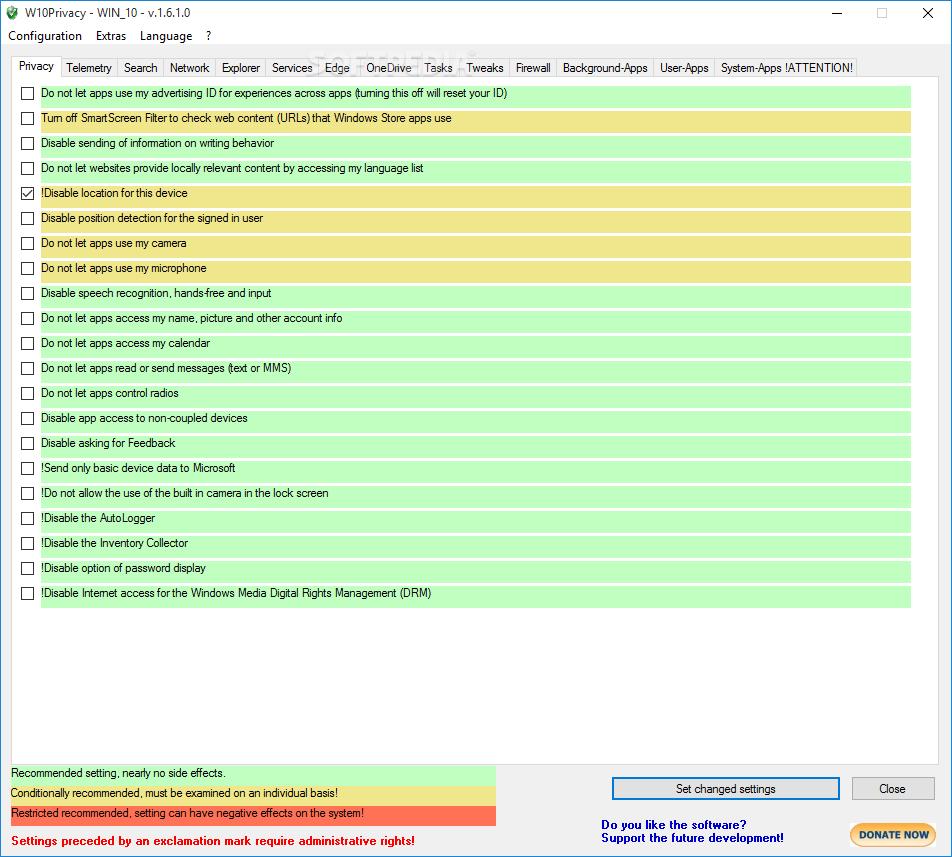 w10 privacy software