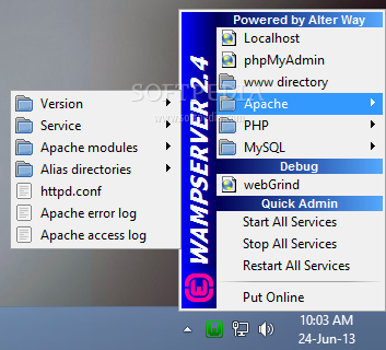 WampServer screenshot 1