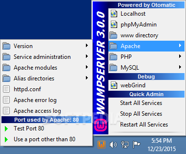 WampServer screenshot 4