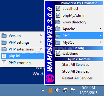 WampServer screenshot 5