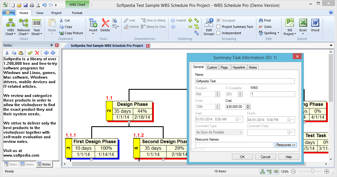 serial number wbs schedule pro