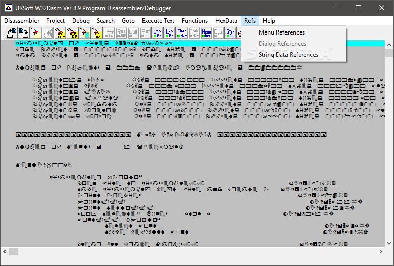 w32dasm version 8.9