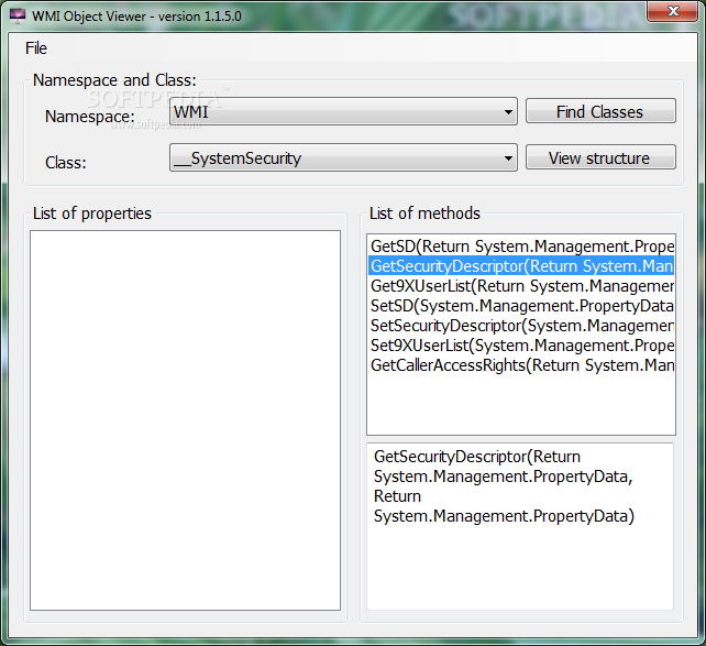 Download WMI Object Viewer 1 1 5 0