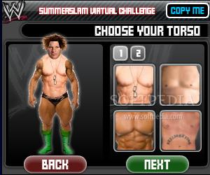a3e78aa02e91 WWE - Create your own WWE Superstar - The main window of WWE - Create your