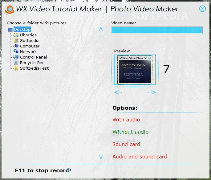 WX Video Tutorial Maker screenshot 2 - The Photo Video Maker window enables you to preview the grabbed screenshots