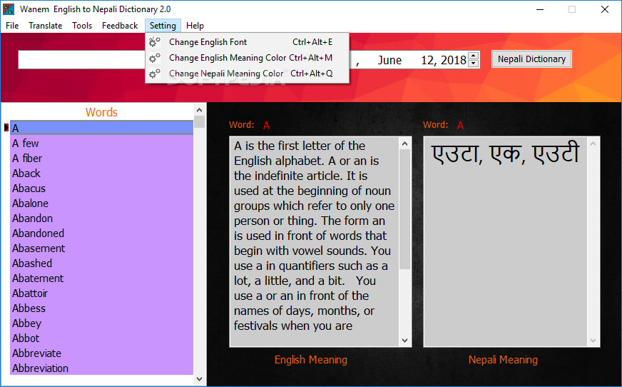 english to nepali dictionary download