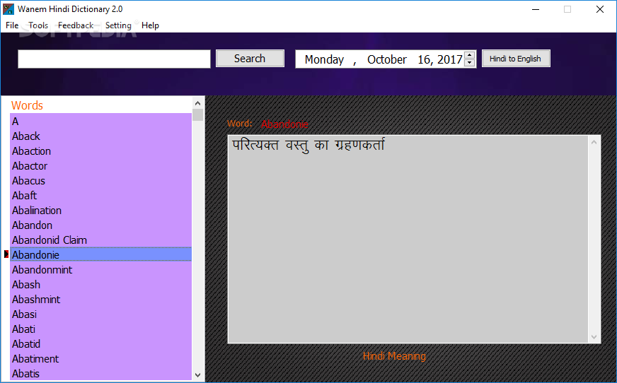 hindi to english translation dictionary free download full version