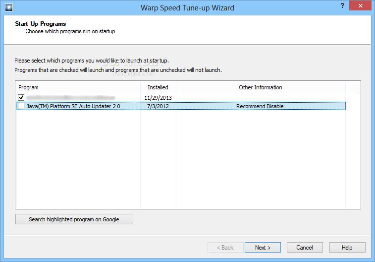 Download Warp Speed PC Tune-up Software 1 14 Beta