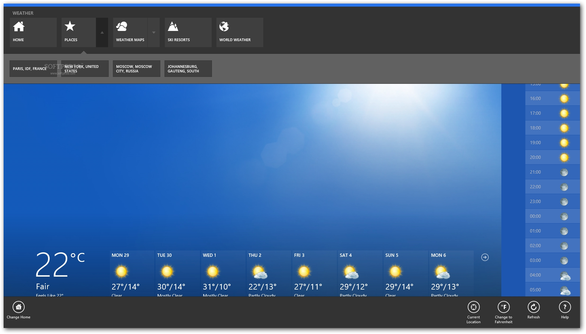 weather forecast software free download for pc