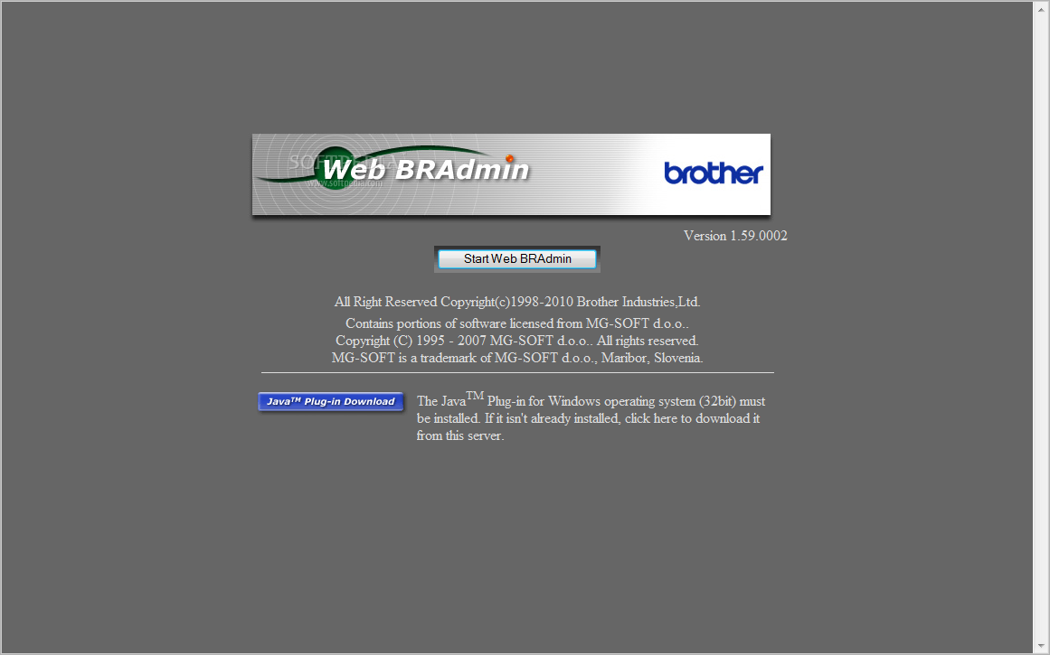 web bradmin