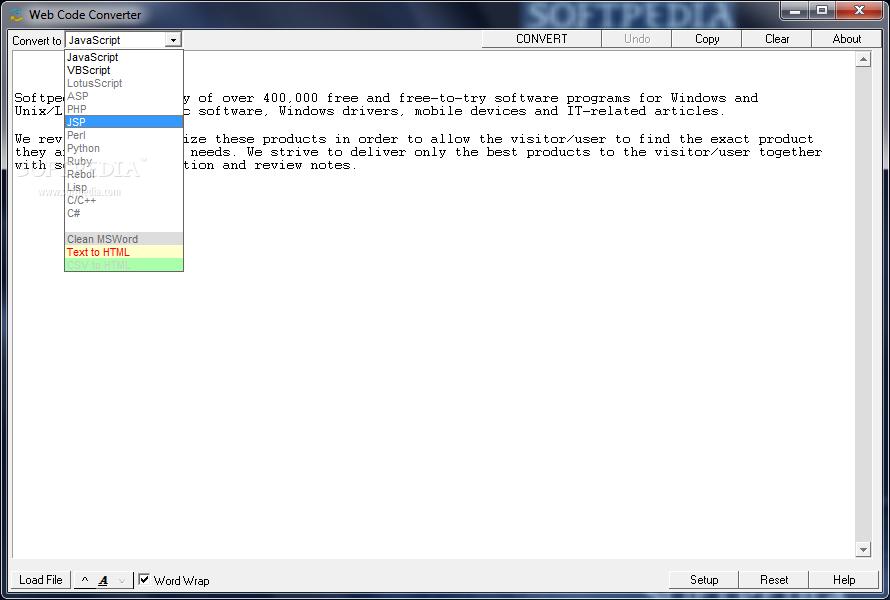 Download Web Code Converter 4 03