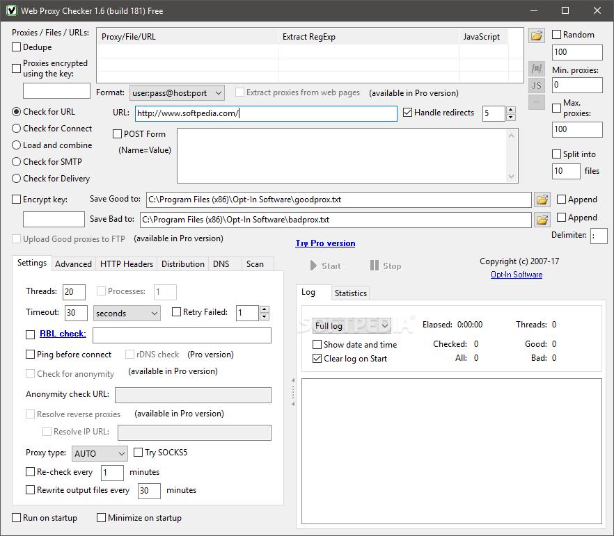 Download Web Proxy Checker 1 6 Build 181