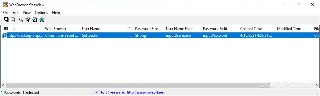 Download WebBrowserPassView 1 91