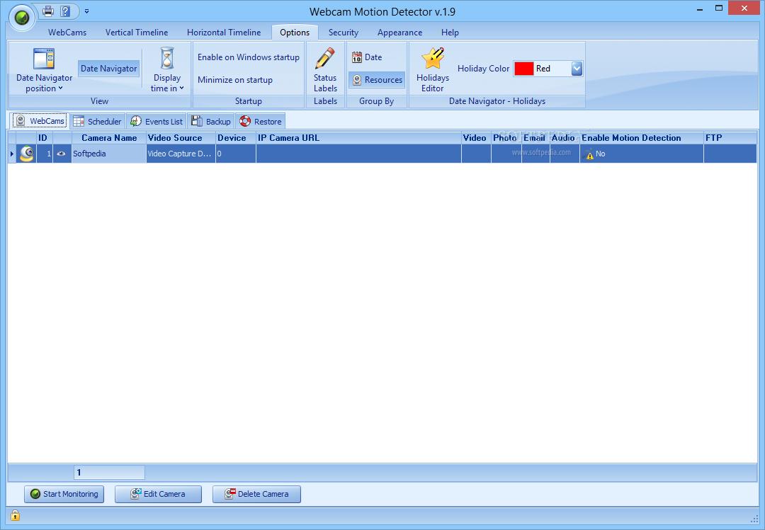 Download Webcam Motion Detector 2 4
