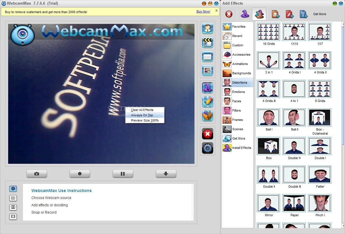 7 TÉLÉCHARGER WEBCAMMAX WINDOWS