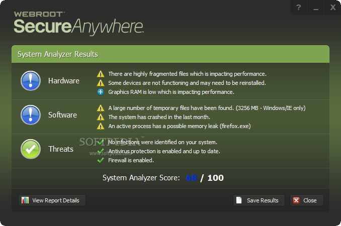 Webroot System Analyzer Download: http://www.softpedia.com/get/System/System-Info/Webroot-System-Analyzer.shtml