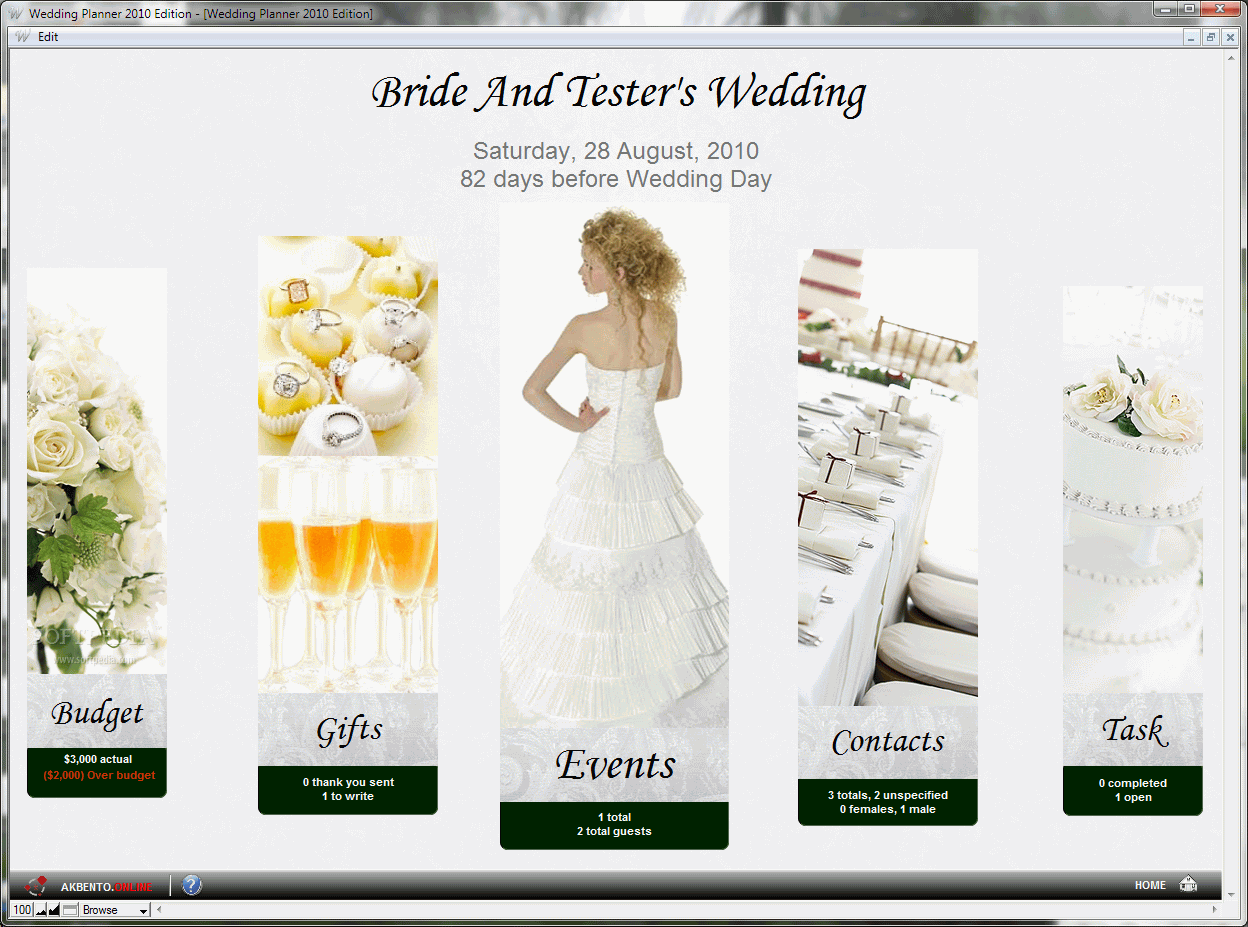 Wedding Planner 2010 Edition Screenshots