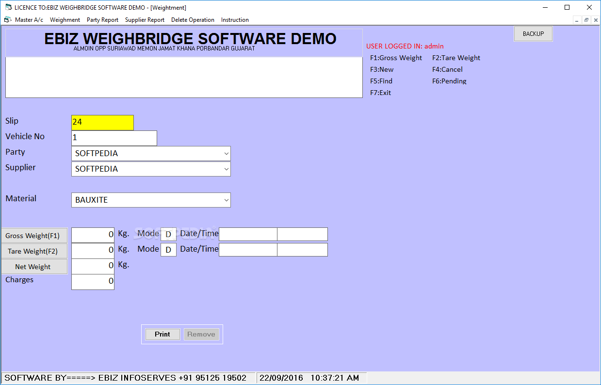 Download EBIZ WEIGHBRIDGE SOFTWARE 6 00 9782