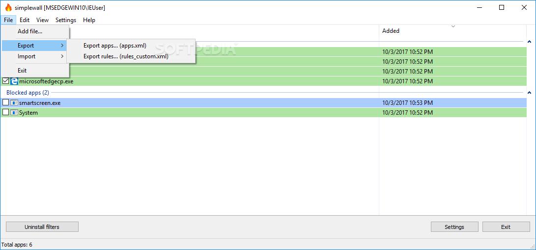 Download simplewall (Wfp Tool) 3.1