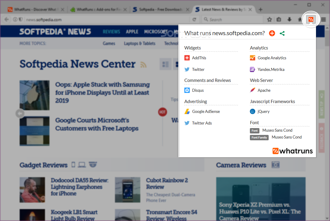 Download WhatRuns for Firefox 1 7 4