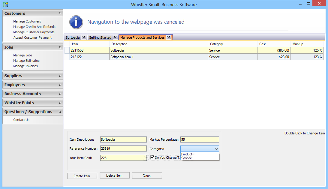 Download Whistler Small Business Software 1 0 0 82