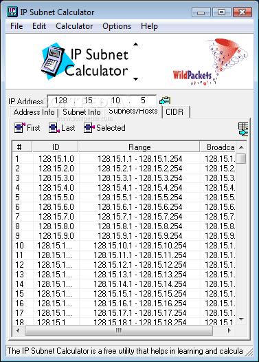 wildpackets ip subnet calculator