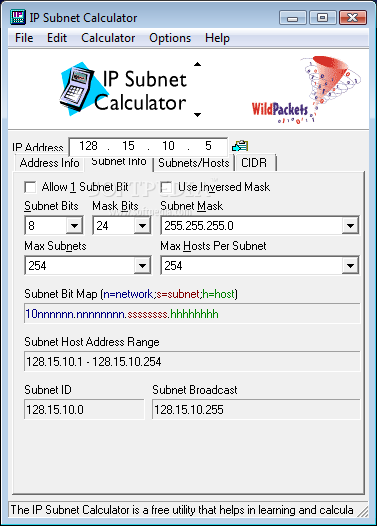 Subnet Mask Calculator 69