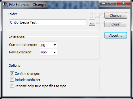 File Extension Changer Free Download - - Utilities Category