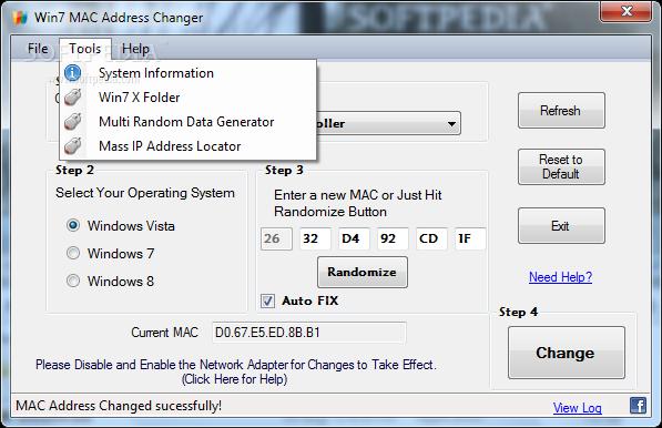 Win7 Mac Address Changer Free Download